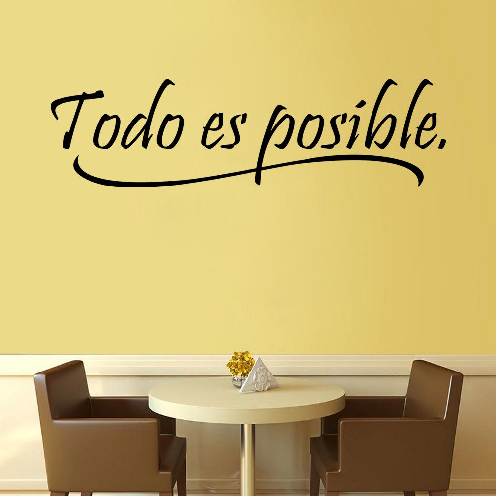 Amazon.com: BIBITIME Inspirational Wall Quotes Word Vinyl Wall Decal ...