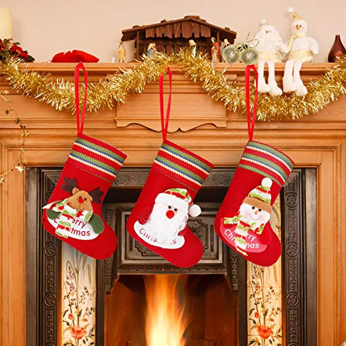 Noex Christmas Stockings Reindeer Snowman Santa Claus 3D