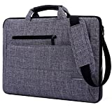 Brinch 15.6-Inch Multi-functional Suit Fabric Portable Laptop Sleeve Case Bag for Laptop, Tablet, Macbook, Notebook - Grey