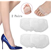 Gel antepié almohadillas metatarsales - 2 pares tacones de silicona Pegatinas calmante alivio del dolor antideslizante cojín antepié compatible con los pies cuidado de los pies protector del dolor