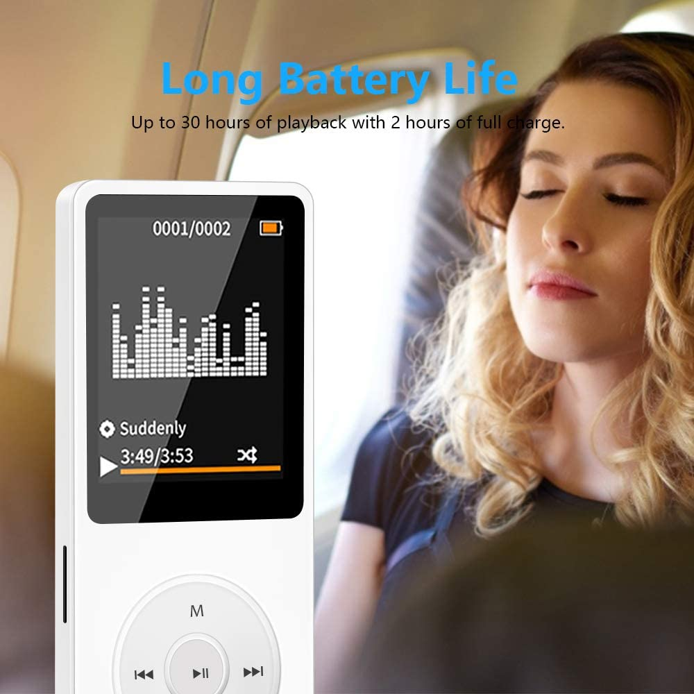 MP3 Player for Kids Wodgreat MP3//MP4 Player with 32GB SD Card HiFi Sound Music Player Mini MP3 Player for Sport MP3 Player with FM Radio Up to 30 Hours Playtime Built-in SD Card Slot Support Up 128GB