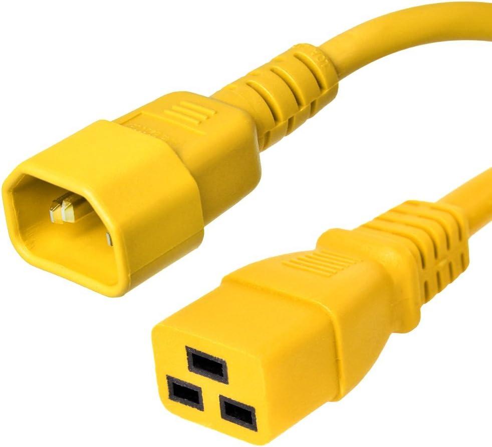 Conntek 29261-MR 15-Amp 125-Volt Hospital Grade//Green Dot Cord 15-Foot SJT 14//3 105C NEMA 5-15P to IEC 320-C19