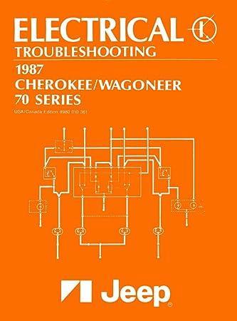 amazon com 1987 jeep cherokee wagoneer wiring diagrams schematics rh amazon com  1987 jeep cherokee wiring diagram