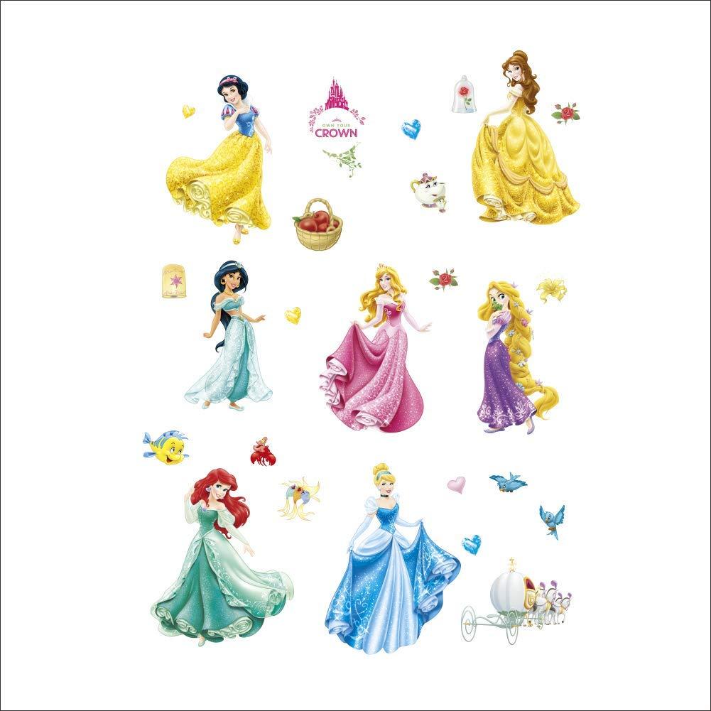 Adesivi Murali Principesse Disney.Dettagli Su Kibi Adesivi Da Parete Principesse Disney Cameretta Adesivo Parete