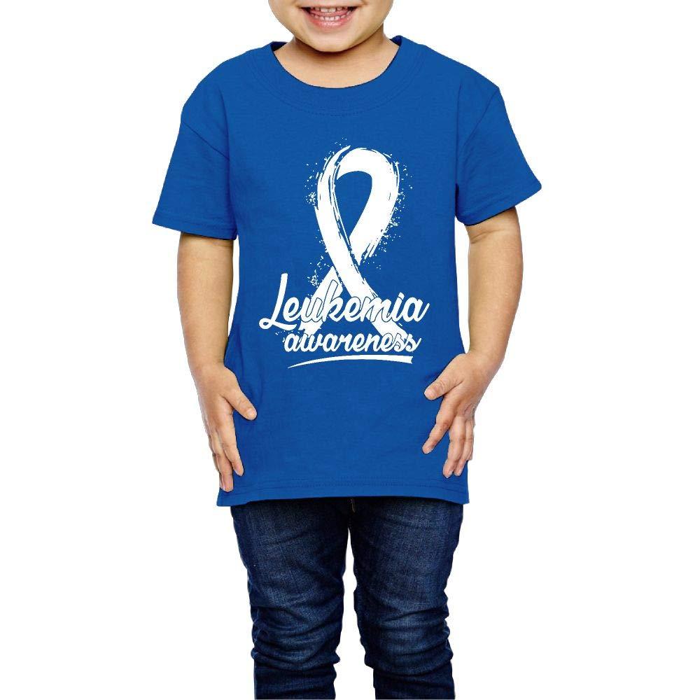XYMYFC-E Leukemia Awareness Ribbon Cancer 2-6 Years Old Children Short Sleeve Tee Shirts