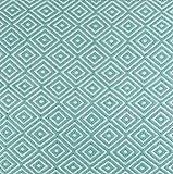 DII Home Essentials diseño de diamantes geométrica área alfombra, 5,1x 7,6cm Blanco/Aqua