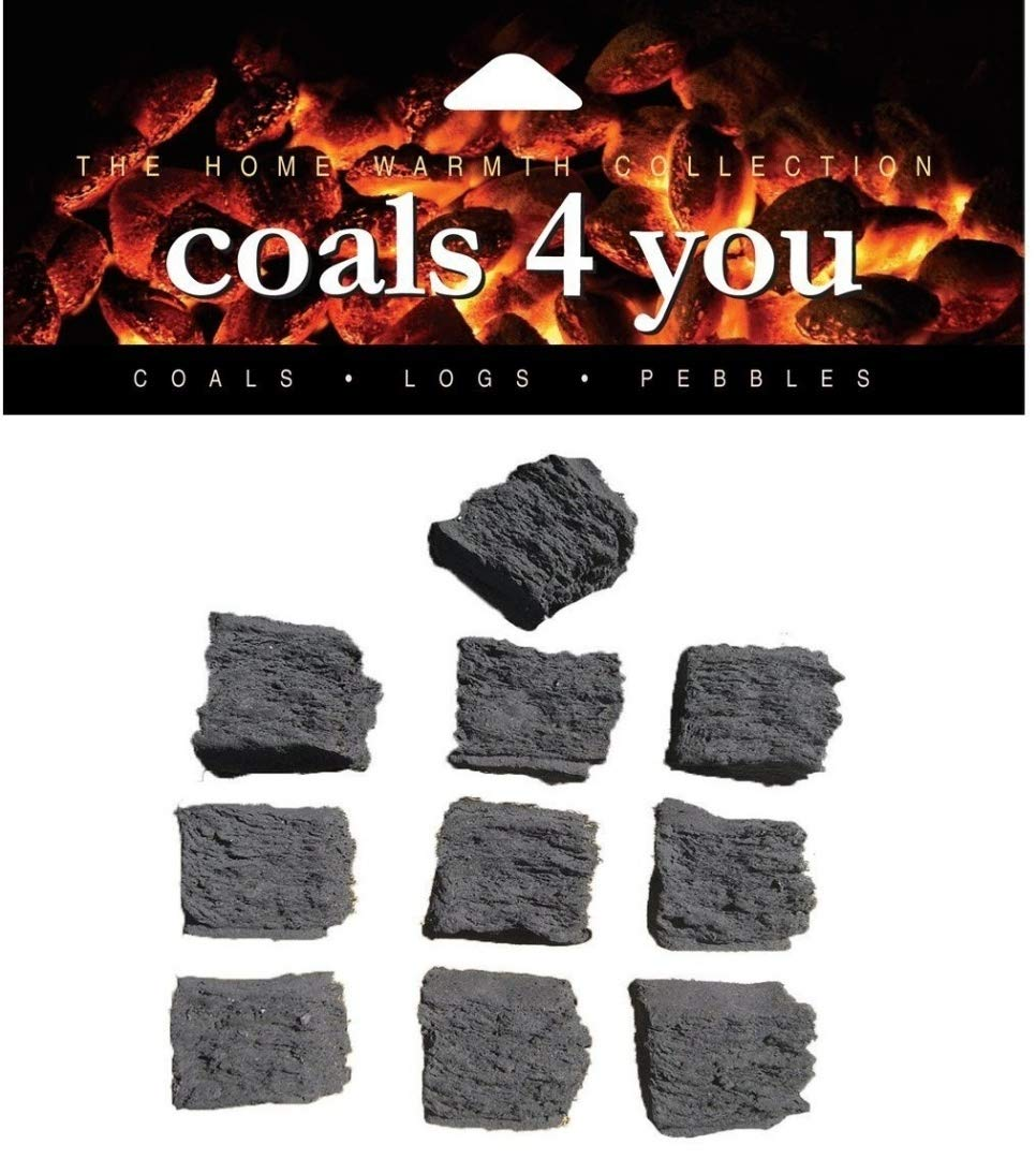 20 GAS FIRE REPLACEMENT CERAMIC MEDIUM COALS IN BRANDED COALS 4 YOU PACKAGING