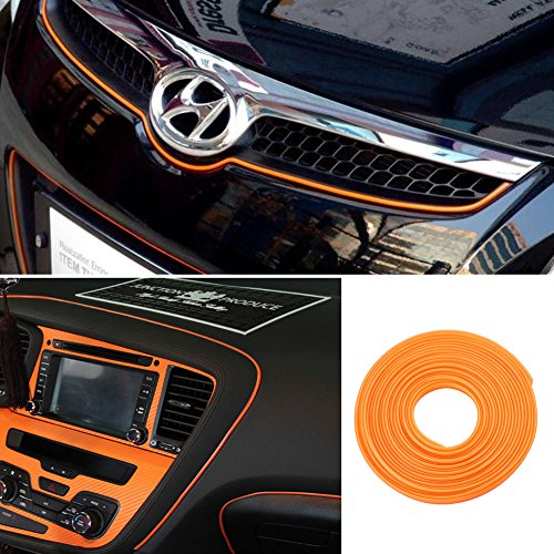 Line Strip - ORANGE 5M Flexible Trim For DIY Automobile Car Interior Exterior Moulding Trim Decorative Line Strip