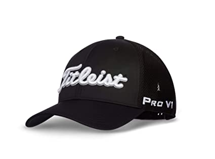 1979ae26de4b7 Titleist Tour Snapback Mesh Legacy Collection Golf Cap 2018 Black White One  Size Fits All