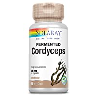 Solaray Fermented Cordyceps Mushroom 500 mg | Healthy Heart Function, Energy & Stamina Support | 60 VegCaps, 30 Servings