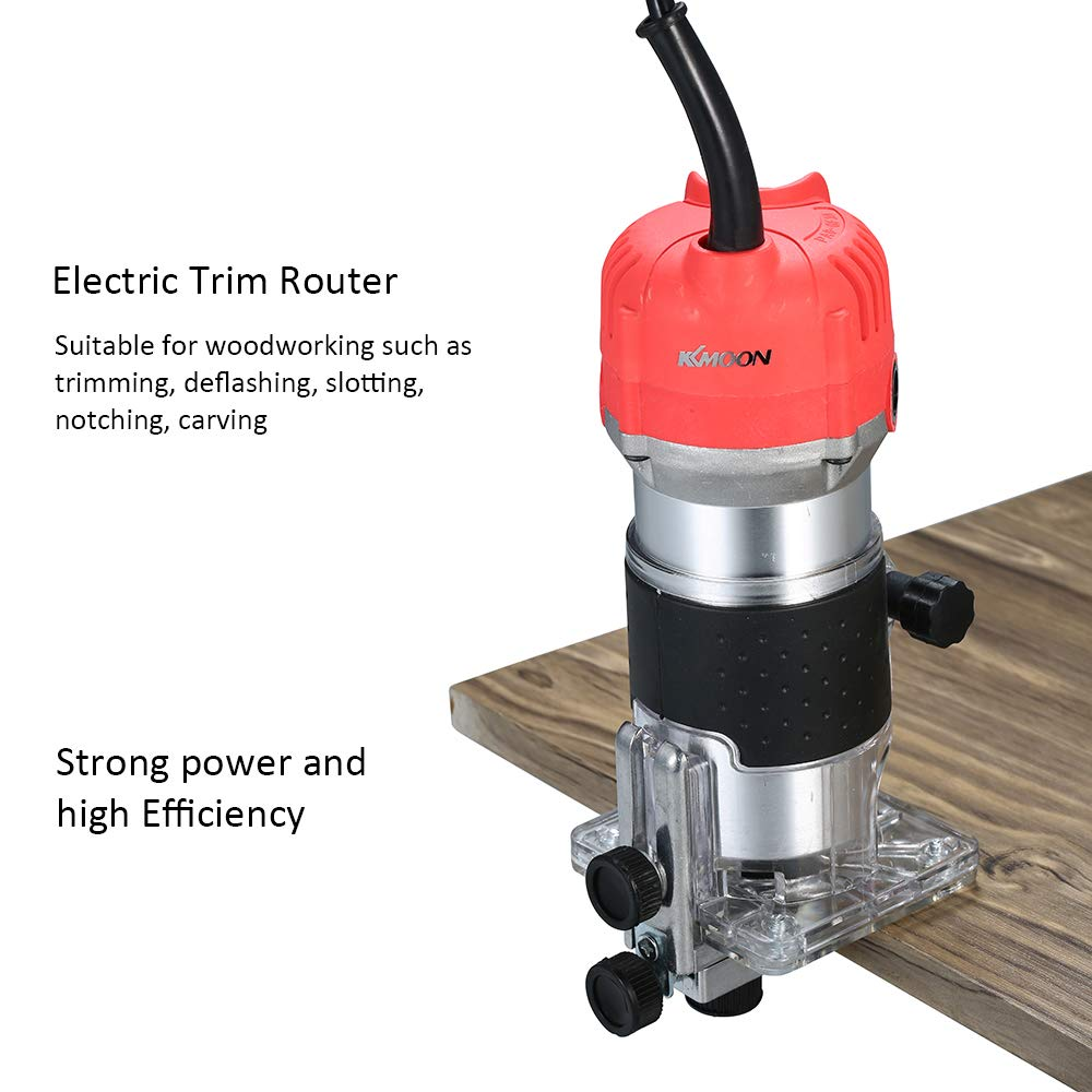 110 V, 800 W, 30000 r//min, para madera y superficie KKmoon Fresadora el/éctrica de bordes