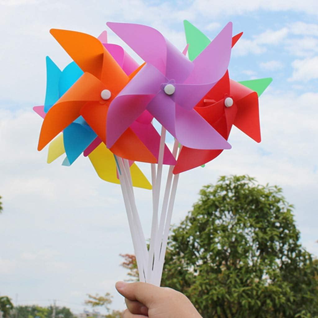F Fityle 100 Unids Portátil Rueda De Flor 3D Molino De Viento Jardín Patio Césped DIY Decoración Juguetes Al Aire Libre - Naranja: Amazon.es: Juguetes y juegos