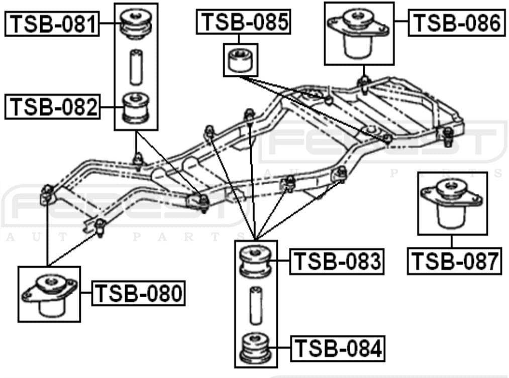 FEBEST TSB-085 Body Bushing