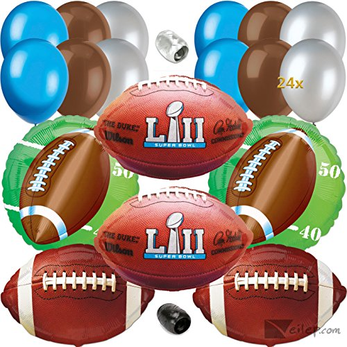 Super Bowl LII 52 Party Decoration Ultimate 32pc Balloon Pack