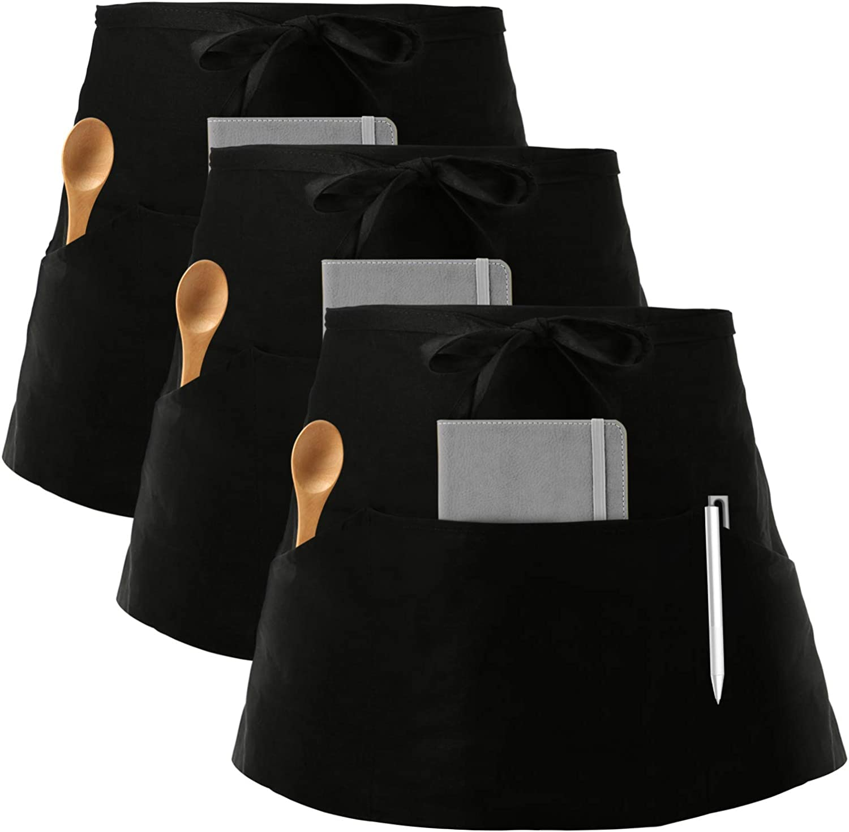 Nanxson Tablier de travail r/églable imperm/éable unisexe avec bavoir de tablier en caoutchouc /à grande poche,CF3115