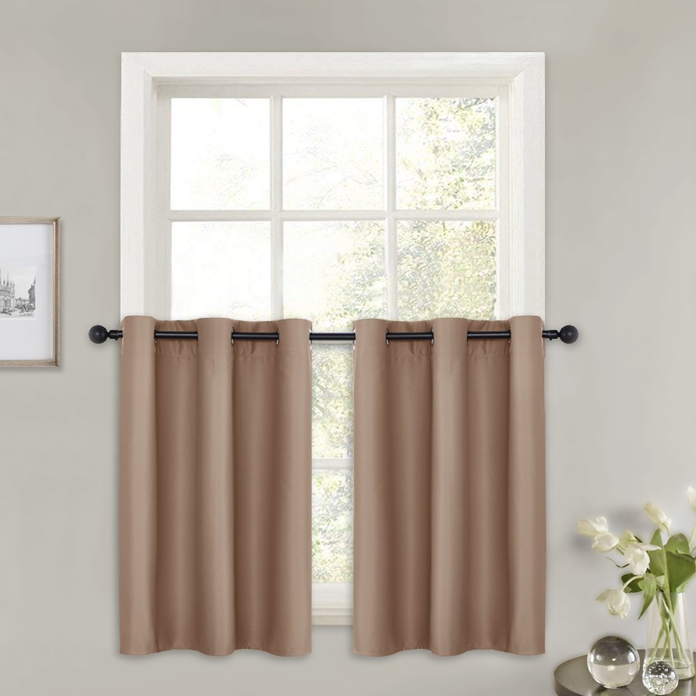 Pony Dance 36 Curtain Tiers Blackout Panels Grommet Top Window Treatments Home Decor Short Curtains Blinds Valances For Kitchen 42 Wide By 36
