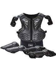 338f6170 WJH Equipo de protección para la Motocicleta, Rodilleras + Coderas +  Chaleco Protector para la