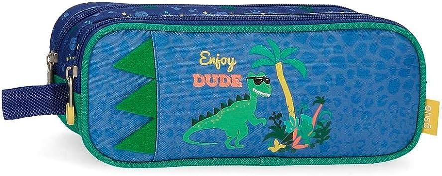 Enso Estuche Dos Compartimentos Dino, Color Multicolor: Amazon.es: Equipaje