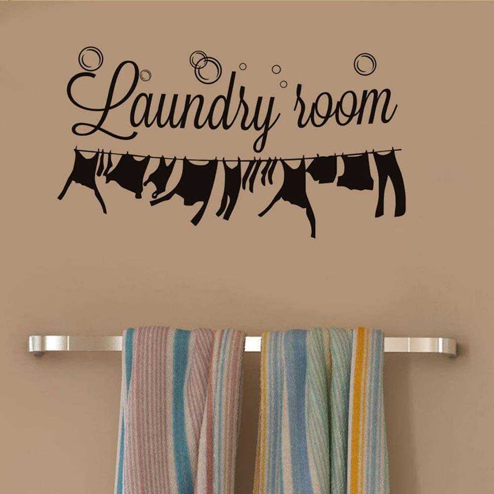 WOVTCP Laundry Room Wall Decal- Laundry Room Decal- Laundry Room Wall Decor- Laundry Sign Decal Vinyl Lettering- Laundry Vinyl Wall Art Decor