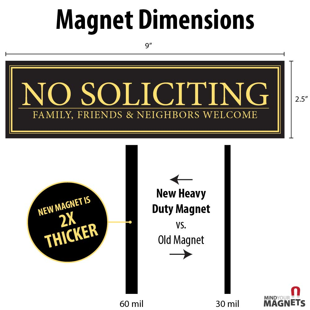 Family Neighbors Welcome Door Magnet 2.5 x 9 Friends The PerfectNo Soliciting Sign for Metal Doors and Frames No Soliciting