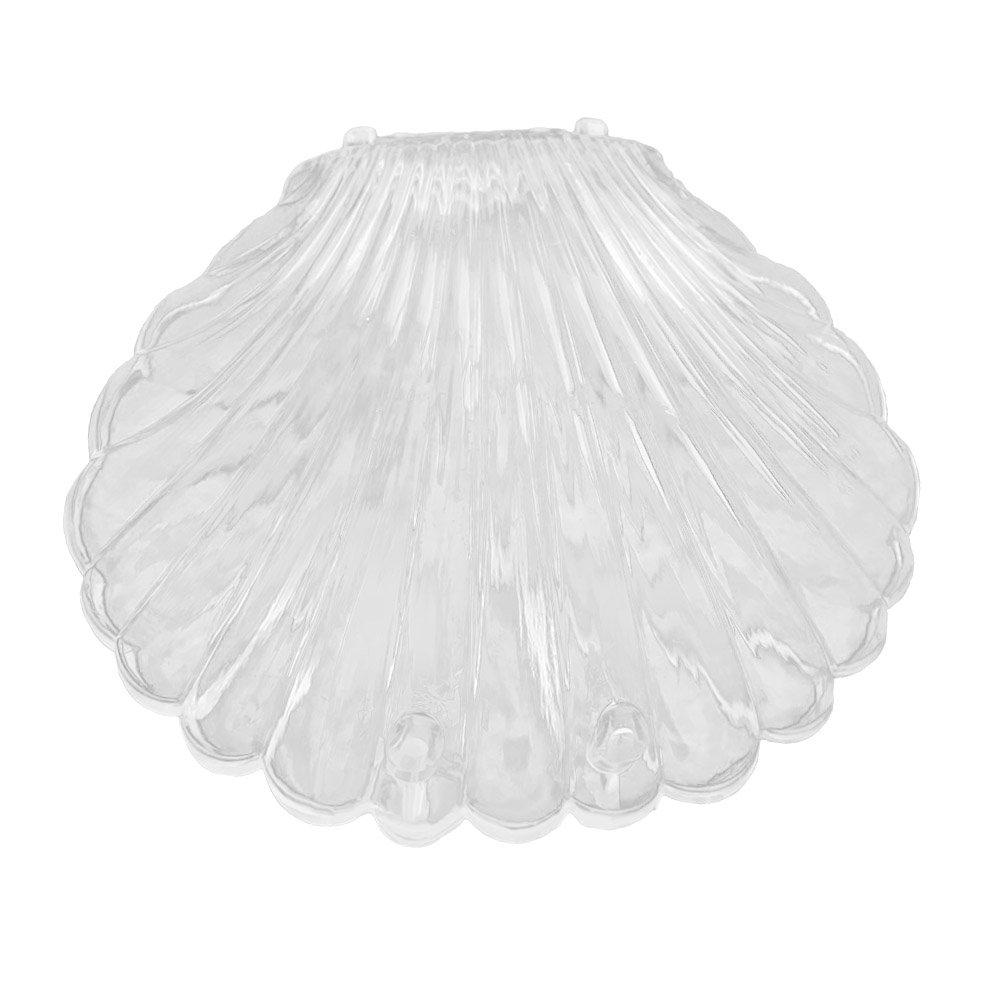lightclub Mini Portable Transparent Seashell Shape Jewelry Necklace Bracelet Earrings Bracelet Storage Organizer Box Case White