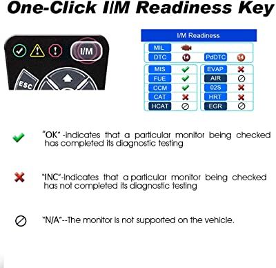 Featuring the unique patented One-Click I/M Readiness Key