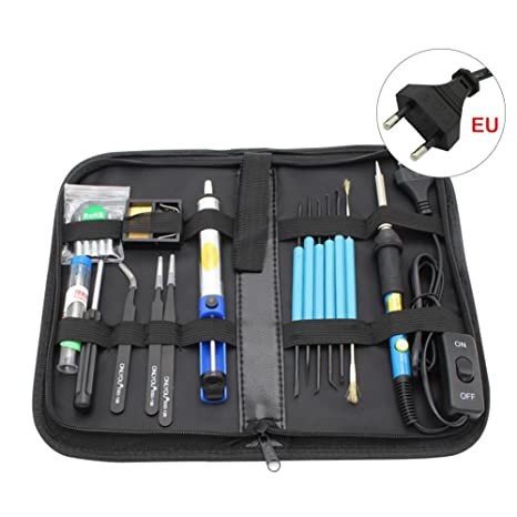 Kit de soldadura Kit hierro a soldar soldador Kit eléctrico soldar caja de herramientas electrónica temperatura