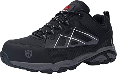 LARNMERN Work Steel Toe Shoes for