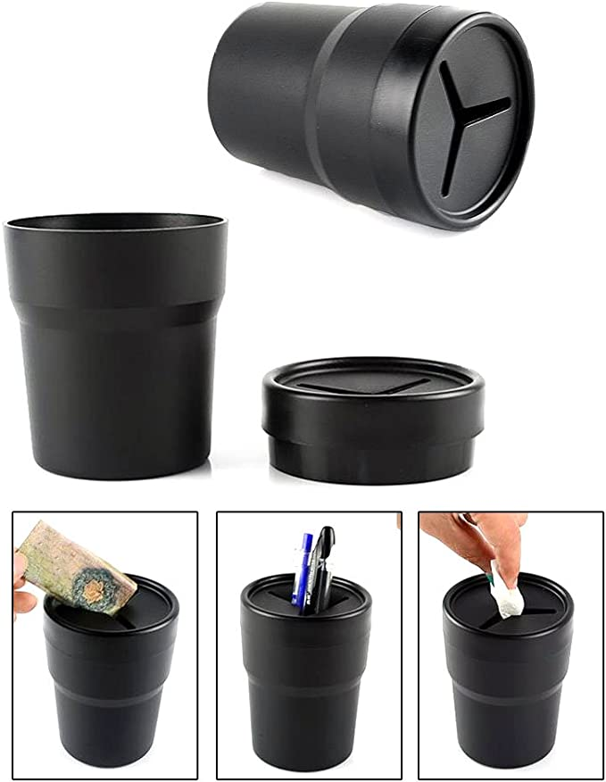 Semoic 2Pcs Car Cup Holder Organiser Multifunctional Water Cup Slot Storage Box Drinking Bottle Can Coin Card Collector