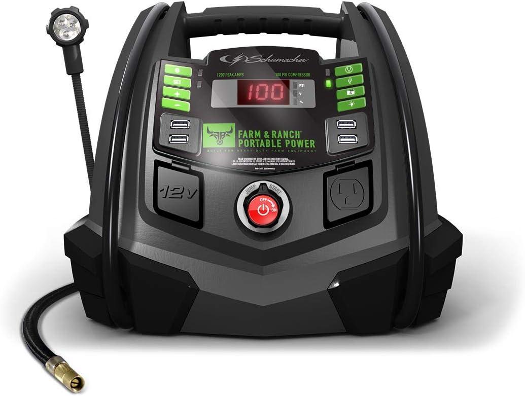 Schumacher FR01337 1200 Peak Amp 12V Jump Starter and Power Supply
