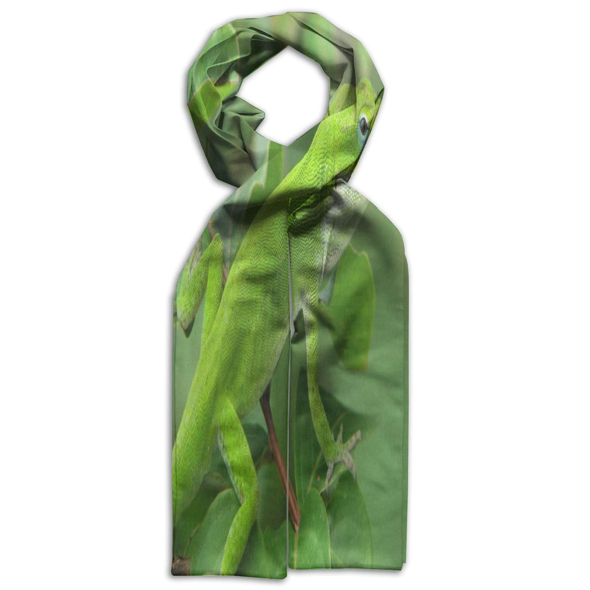 Kids Scarf Green Retro Pattern Scarves Winter Warm Bandelet For Young People Lovexue