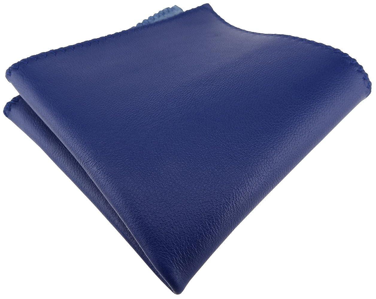 TigerTie feines Ledereinstecktuch in einfarbig Uni - Einstecktuch Pochette 100% Lammnappa-Leder