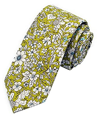 New 1960s Style Men's Ties Secdtie Mens Skinny Tie Fashion Causal Cotton Floral Printed Linen Necktie $9.99 AT vintagedancer.com