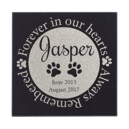 Forever In Our Heart Circle Cat Memorial Personalized Grave Stone For Cat | Granite