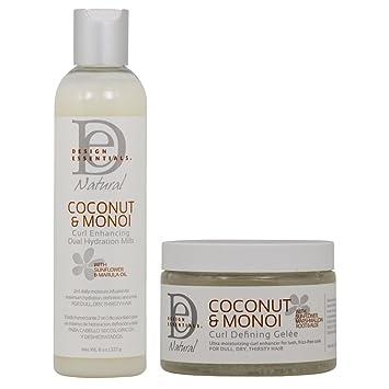 Amazoncom Design Essentials Natural Coconut And Monoi Curl