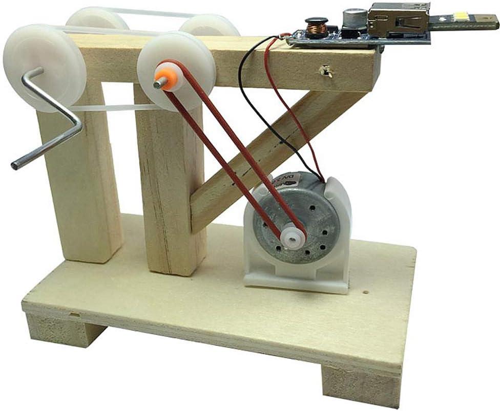 Bricolaje Manivela Generador Tecnología Pequeña Producción Gizmo Estudiante Ciencia Manual Trabajo Creativo Invención: Amazon.es: Electrónica