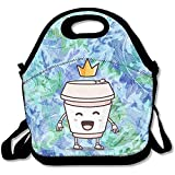 staromia I'm Not A Paper Cup Thermal Insulated Ceramic Eco Cup Lunch Bag Adjustable Strap