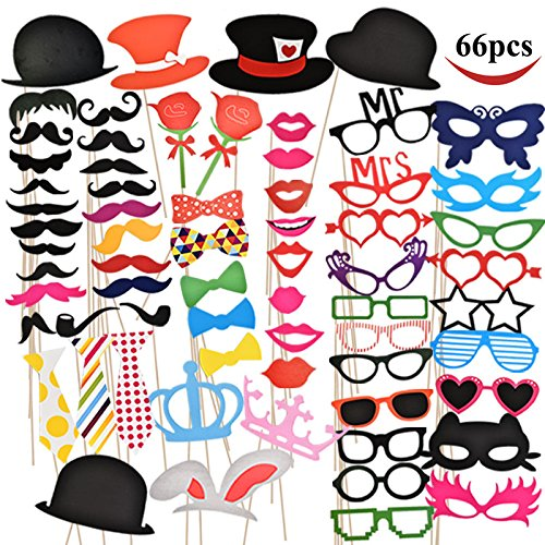 Joyin Toy B01F3288OE Photo Booth Props 66 Pieces