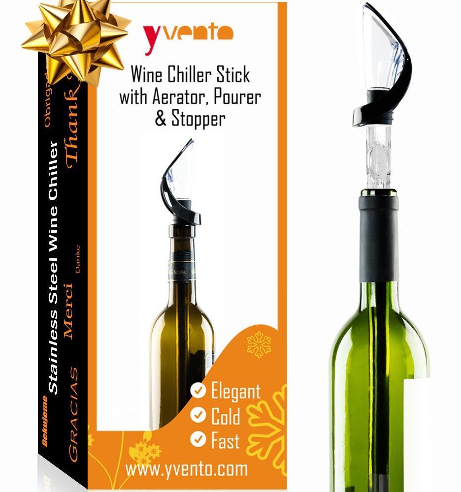 Original Regalo Enfriador de Botella de Vino con Aireador Oxigenador y Vertedor