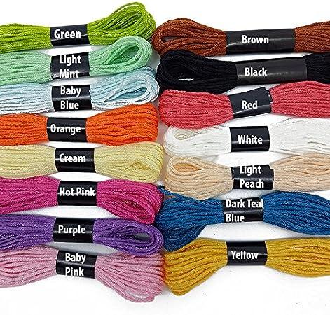 Madejas hilo en varios colores, de hilo de algodón, para bordado ...