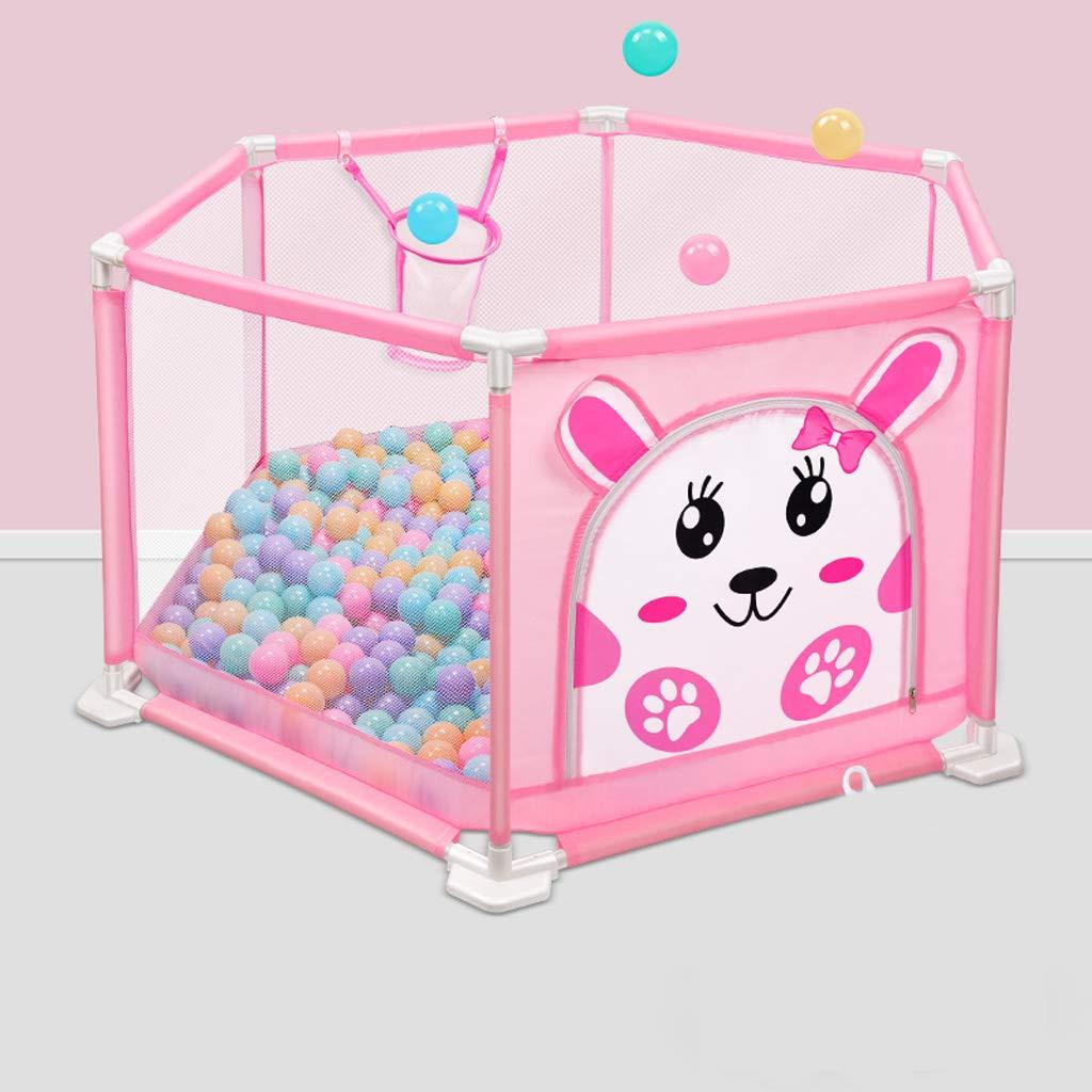 赤ちゃんフェンス子供屋内クロール赤ちゃん幼児フェンス安全フェンス SHWSM (Color : Pink) B07TB6DZZW Pink