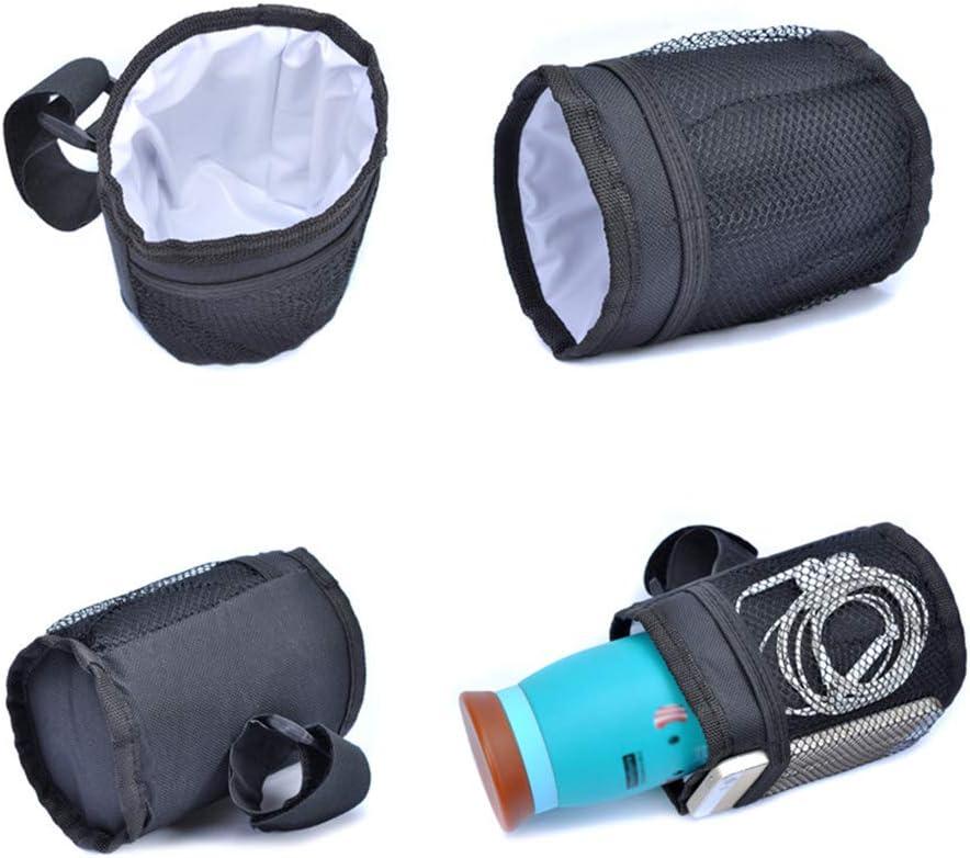 Senderismo SITAKE 2Pcs Porta Botellas de Agua con 2Pcs Ganchos para Correr Negro Ciclismo,Camping Caza