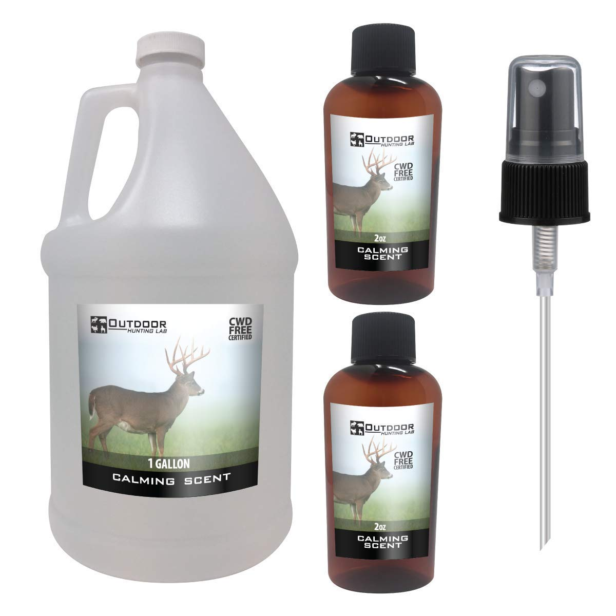 Outdoor Hunting Lab Calming Scent Ever Calm Deer Attractant Buck Lure Whitetail Hunting Cover Urine Pee Spray(1 Gallon) by Outdoor Hunting Lab