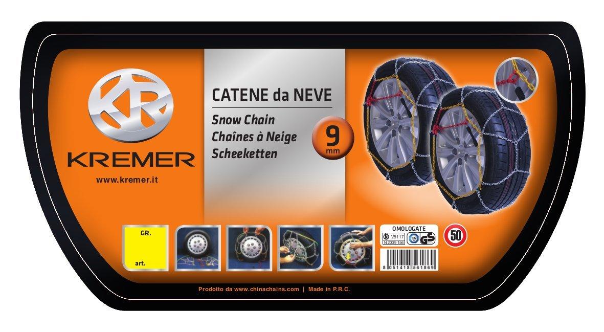 9 mm Kremer 196 Catene da Neve Gruppo 9
