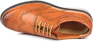 Zapatos de piel sintética para hombre, diseño italiano Brogues, formales, inteligentes, para hombre, talla 7-11