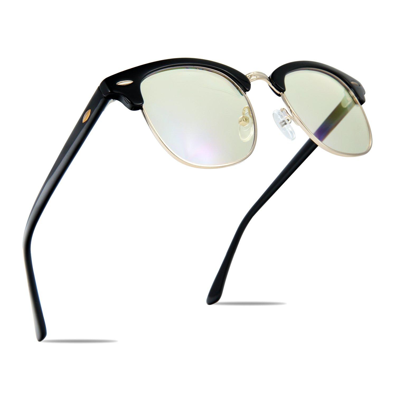 TOPERSUN Blue Light Glasses UV400 Anti Glare Computer Glasses Gaming Glasses Anti Eye Strain Blue Light Glasses for Women Man