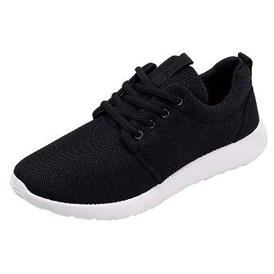 GongzhuMM Sneakers Hommes Baskets Trainers Chaussures de Sport Mocassins  Souple Chaussures de Course pour Étudiant Noir 9794838cc47e