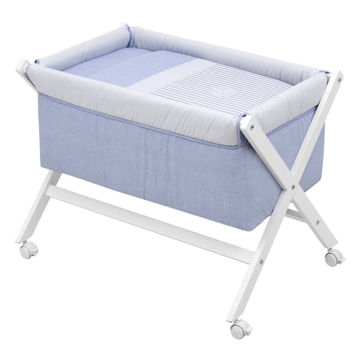 Cambrass X Wood Une Bed - Denim Blue - Small - 55 x 87 x 74 cm