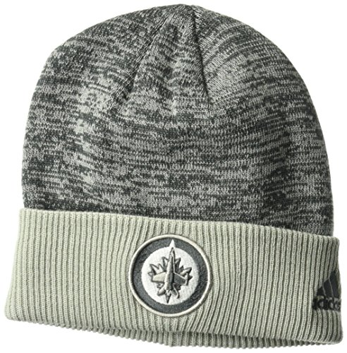 fan products of NHL Winnipeg Jets Adult Men Pro Authentic Travel & Training Cuffed Beanie, One Size, Gray