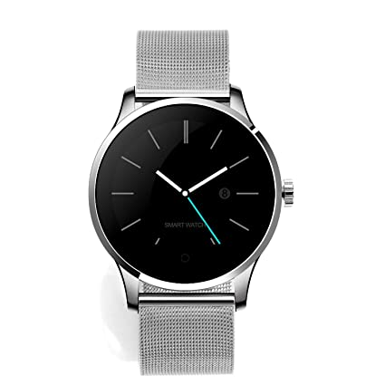 STEPFLY K88H Smart Watch for Men Women with Stainless Steel Strap Smart Wrist Watch Heart Rate Blood Pressure Pedometer Fiteness Tracker for Android ...